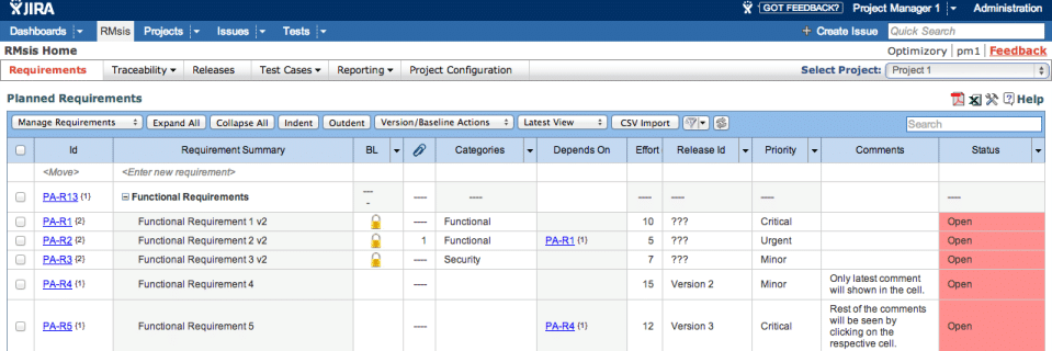 RMsis- Requirements Management for Jira