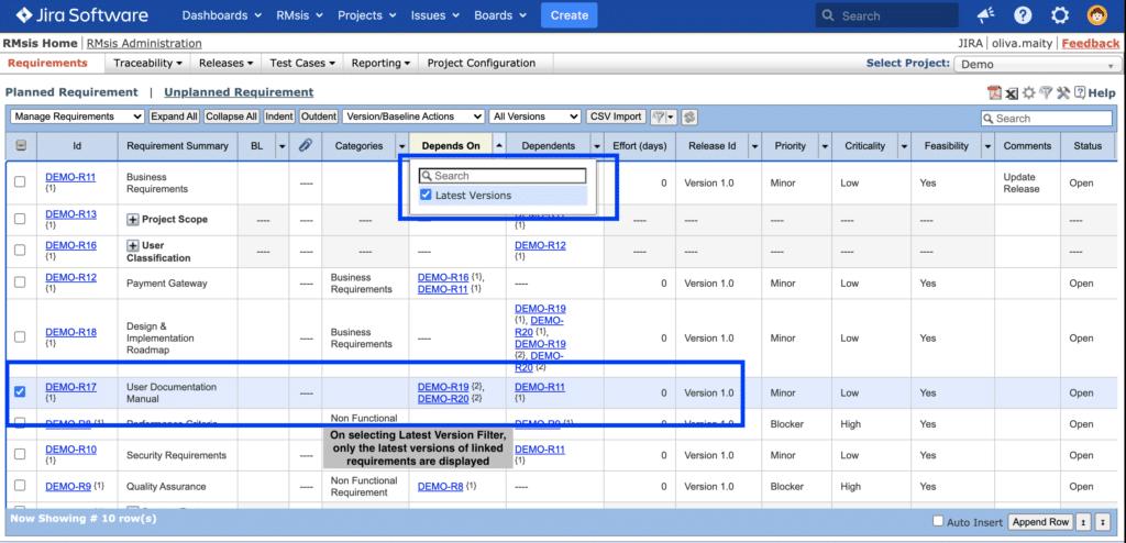 RMsis version control management
